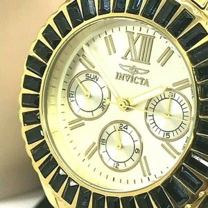 Invicta 18871 Women's Angel Blue Crystal Bezel Gol